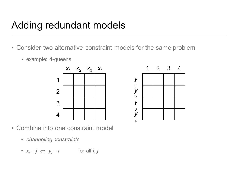 Adding redundant models