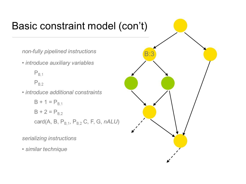 Basic constraint model (con't)