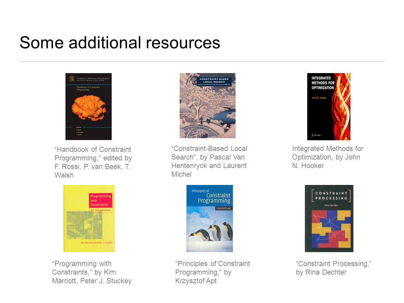 Some additional resources