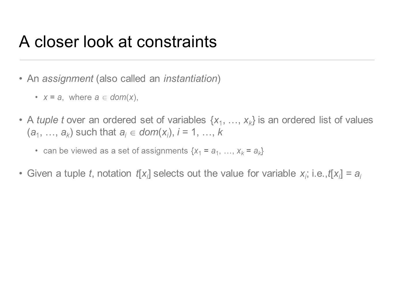 A closer look at constraints