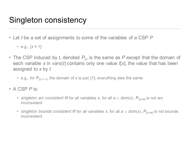 Singleton consistency