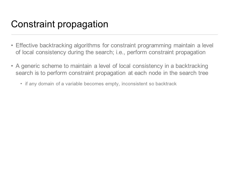 Constraint propagation