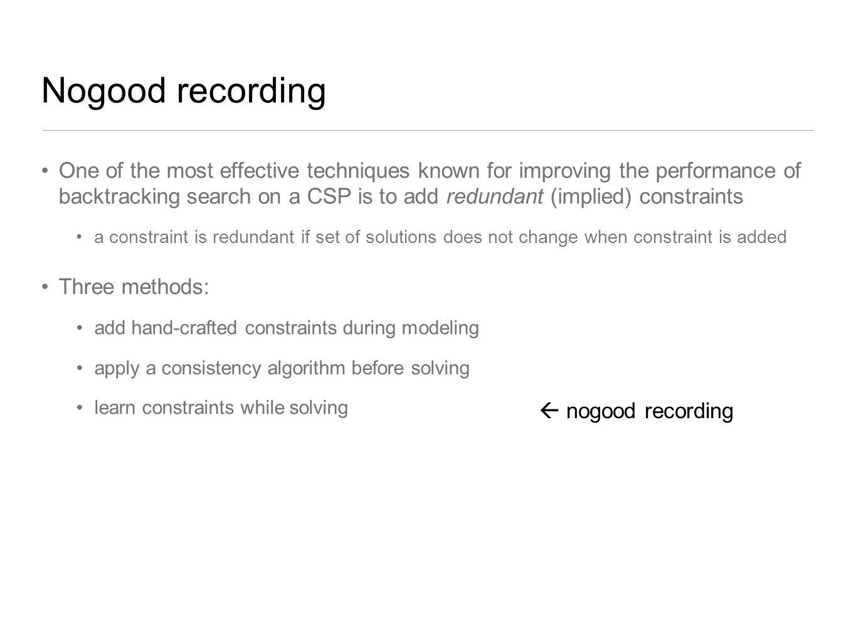 Nogood recording