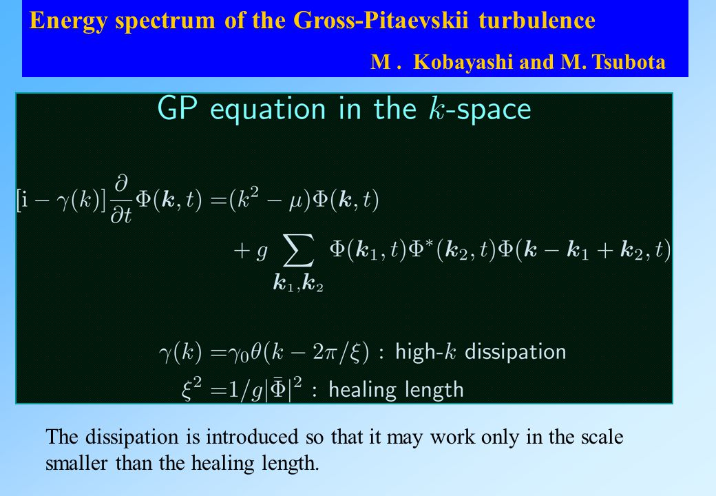 Energy spectrum of the Gross-Pitaevskii turbulence