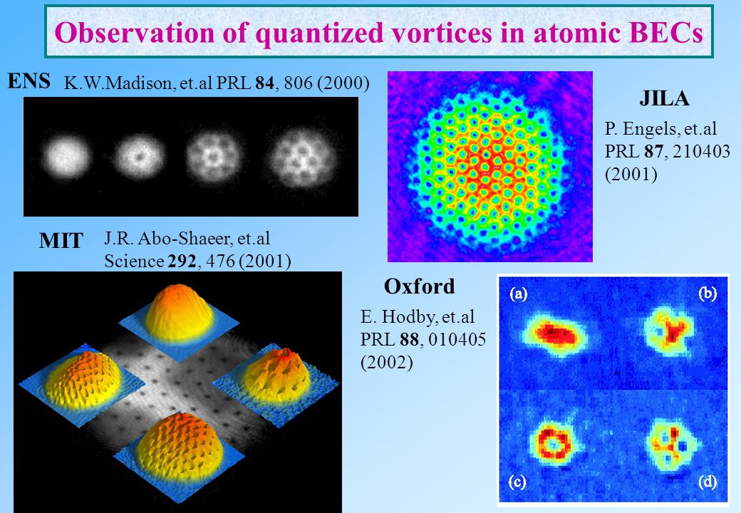 Observation of quantized vortices in atomic BECs