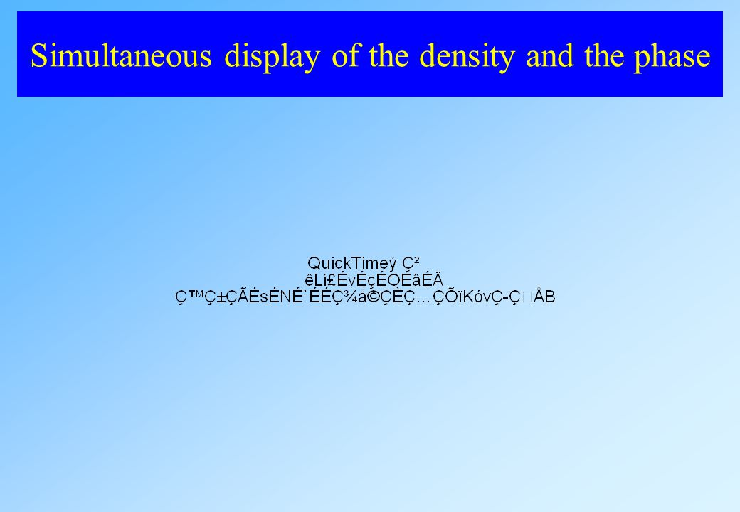 Simultaneous display of the density and the phase