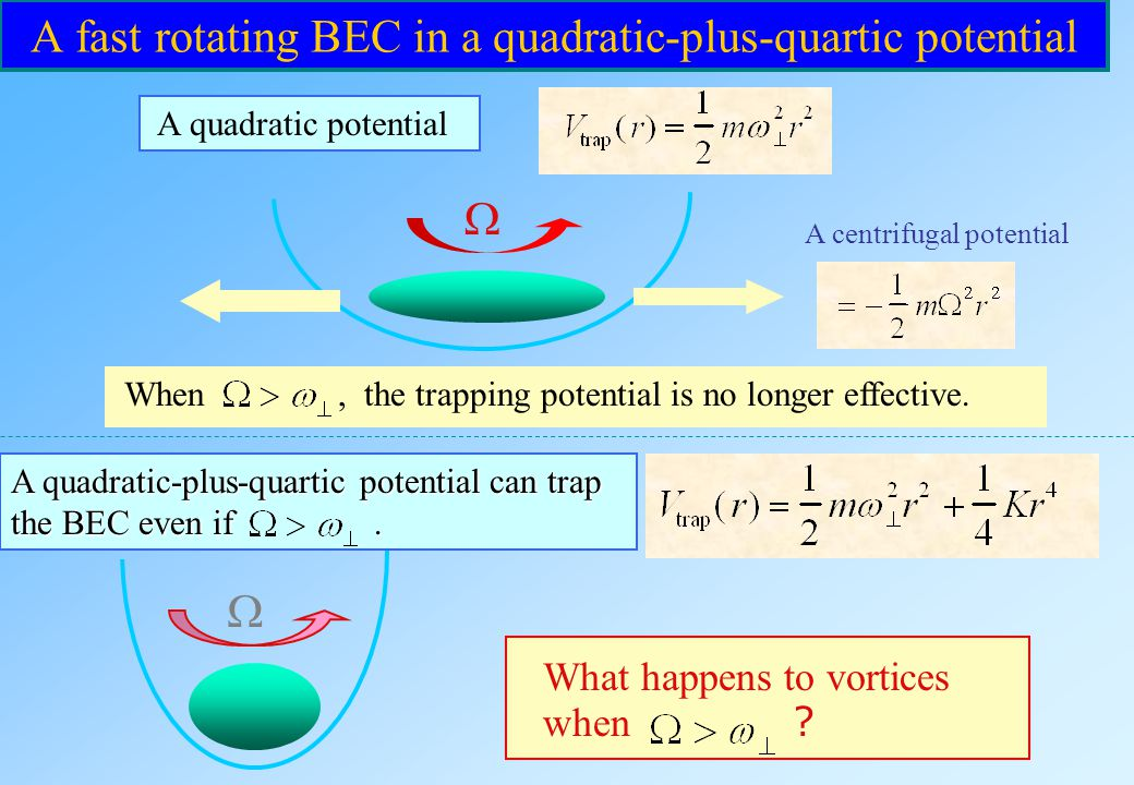 A fast rotating BEC in a quadratic-plus-quartic potential
