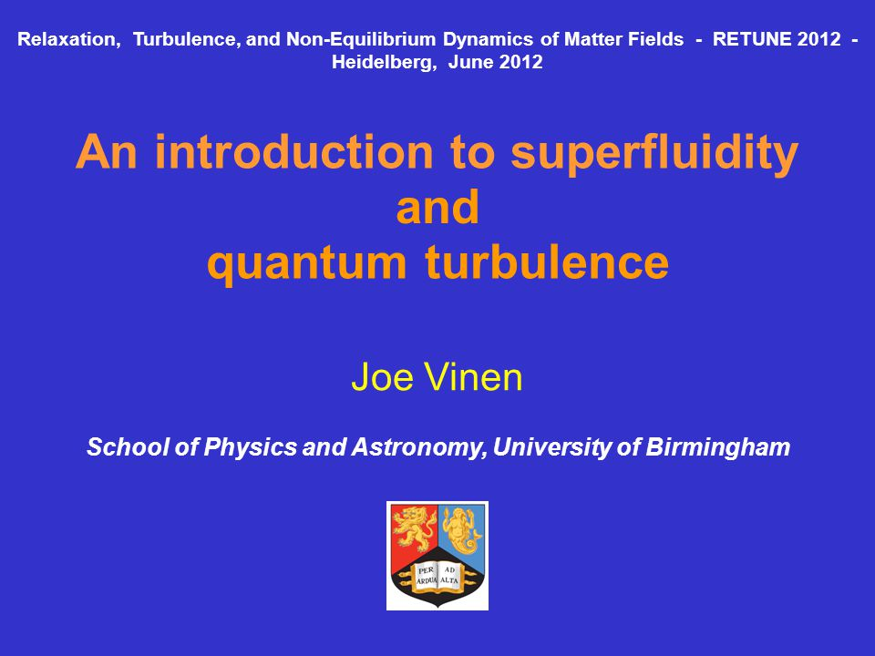 An introduction to superfluidity and quantum turbulence