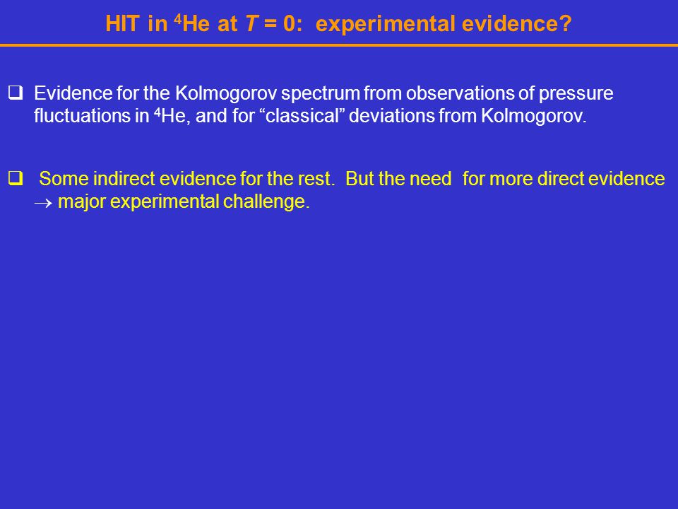 HIT in 4He at T = 0: experimental evidence