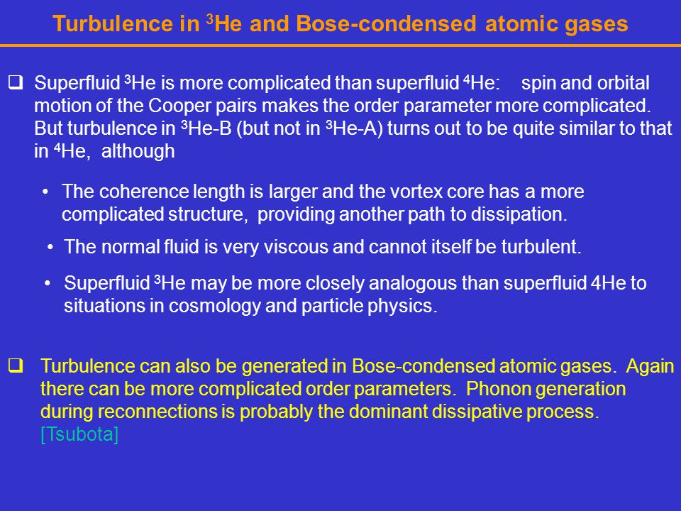 Turbulence in 3He and Bose-condensed atomic gases