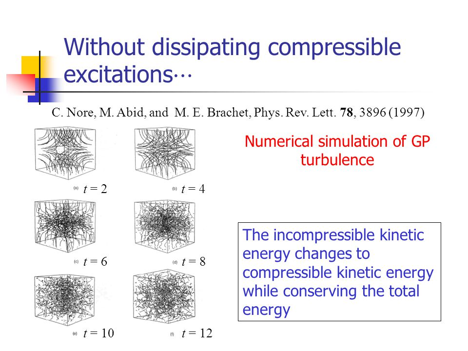 Without dissipating compressible excitations⋯