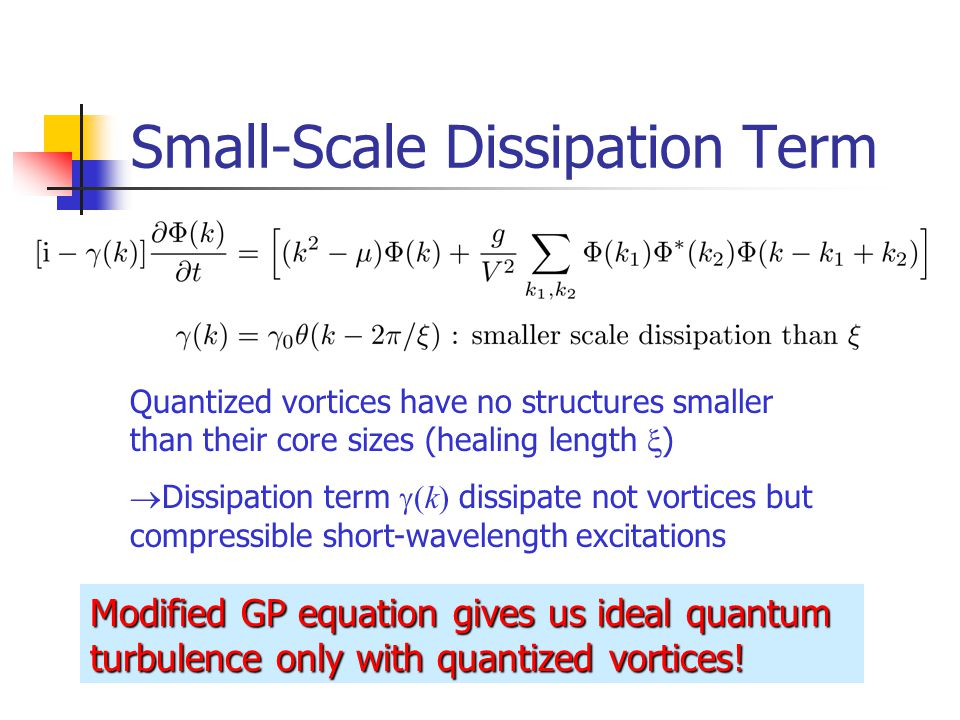 Small-Scale Dissipation Term
