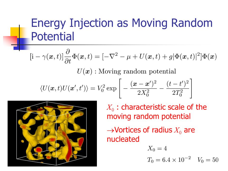 Energy Injection as Moving Random Potential
