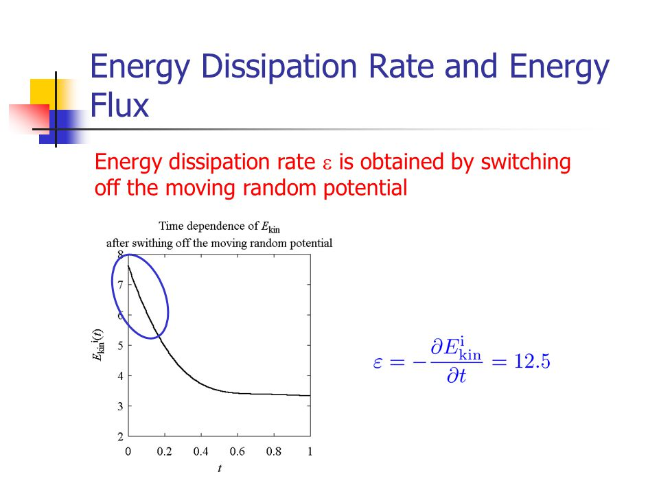 Energy Dissipation Rate and Energy Flux