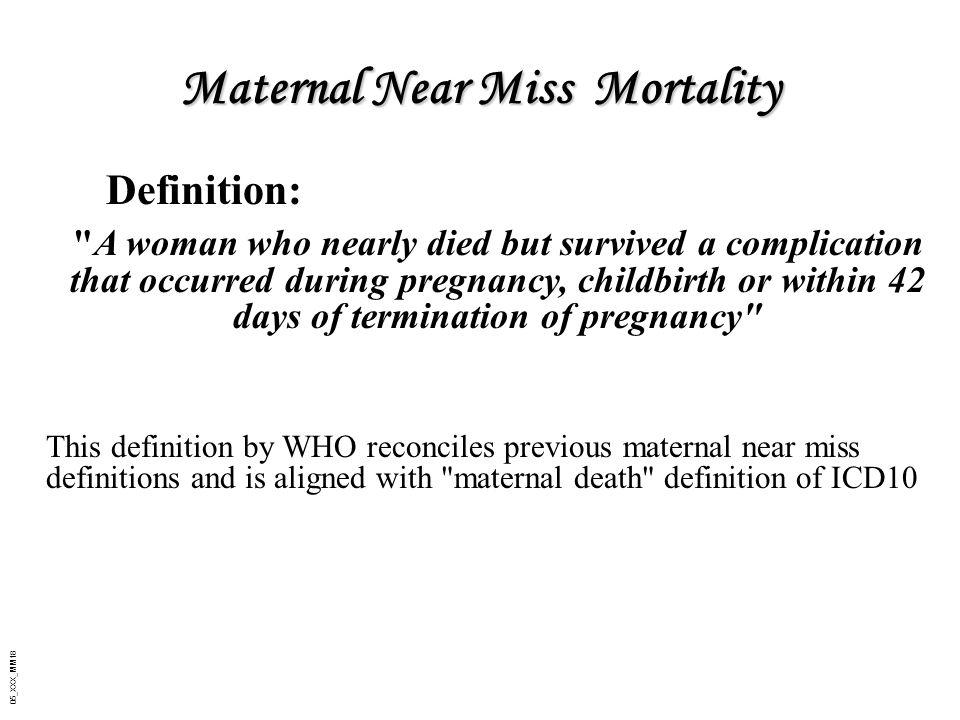 Maternal Near Miss Mortality
