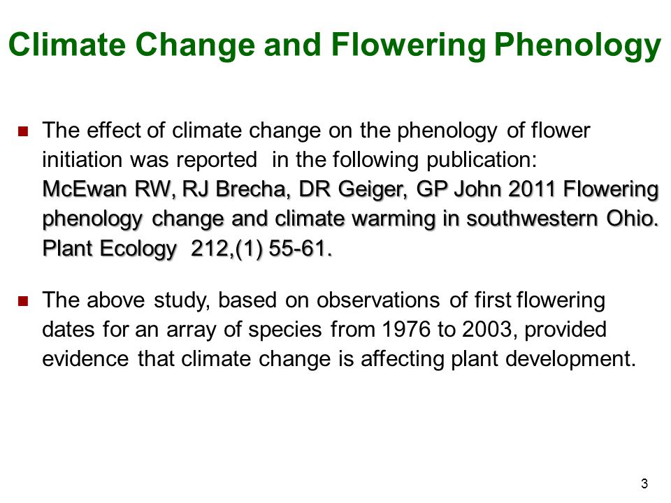Climate Change and Flowering Phenology