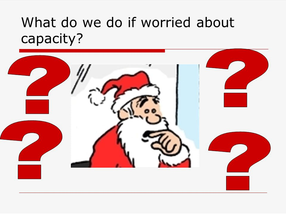 What do we do if worried about capacity