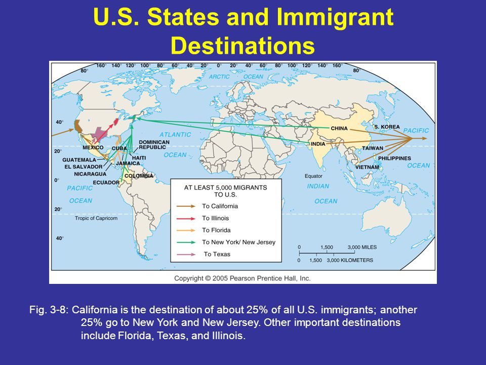 U.S. States and Immigrant Destinations