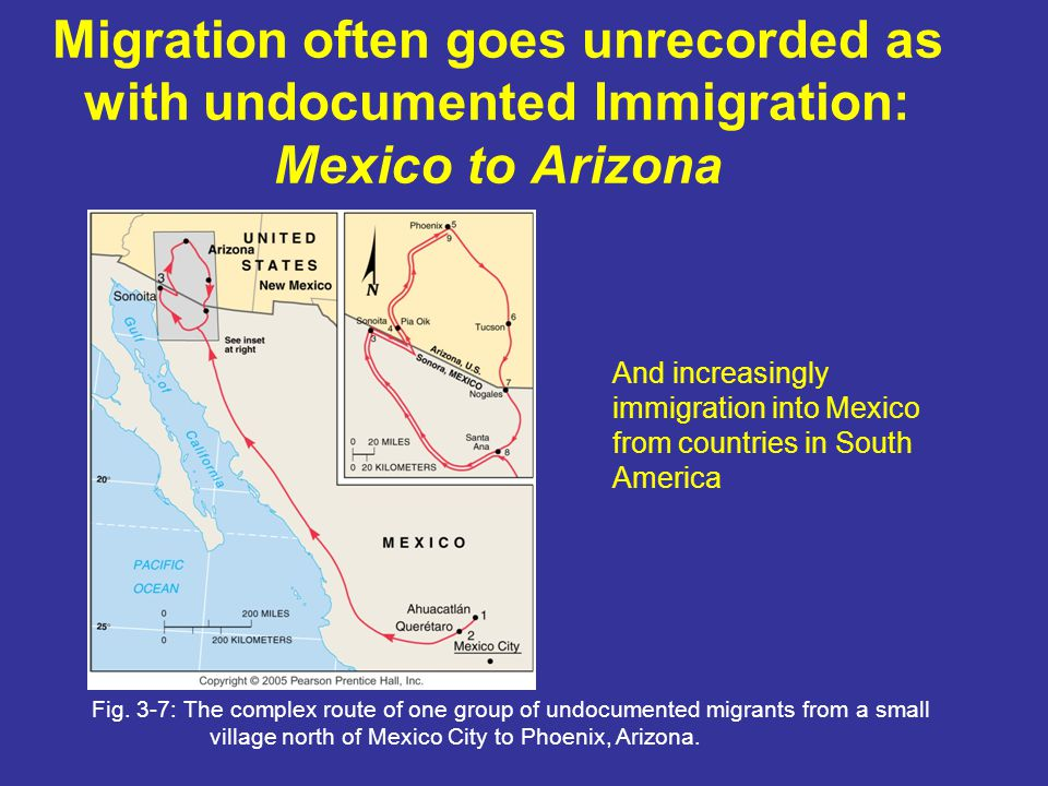 Migration often goes unrecorded as with undocumented Immigration: Mexico to Arizona