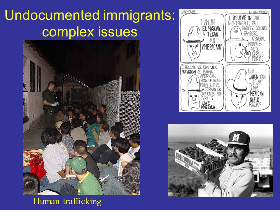 Undocumented immigrants: complex issues