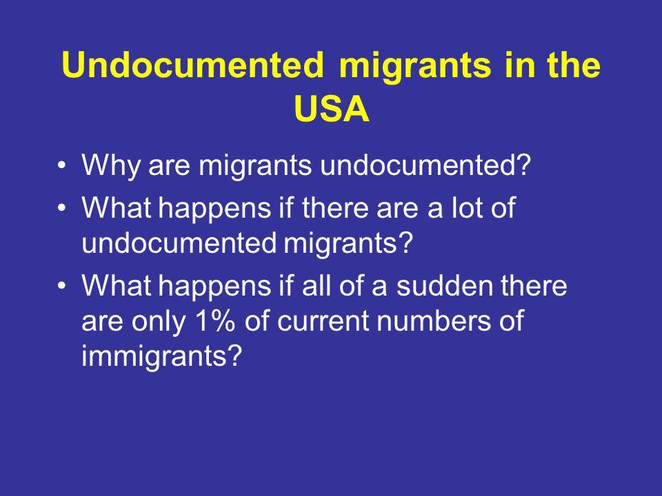 Undocumented migrants in the USA