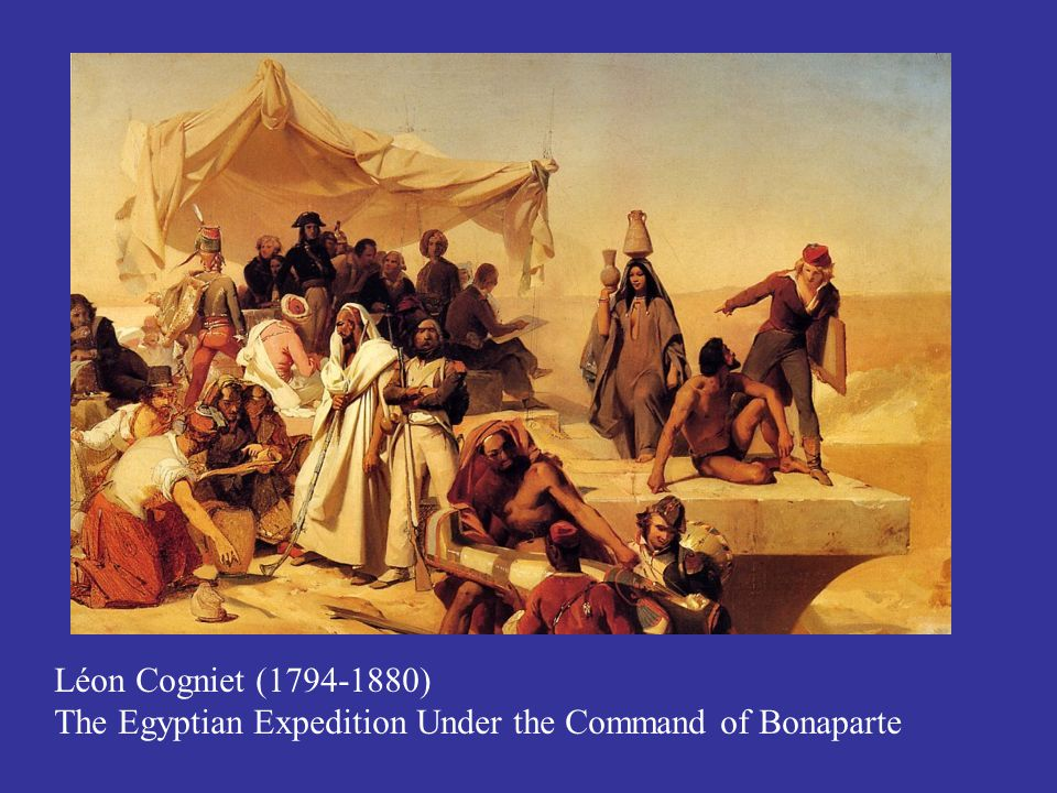 Léon Cogniet (1794-1880) The Egyptian Expedition Under the Command of Bonaparte