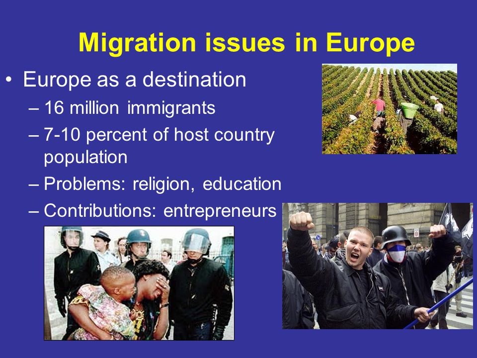 Migration issues in Europe