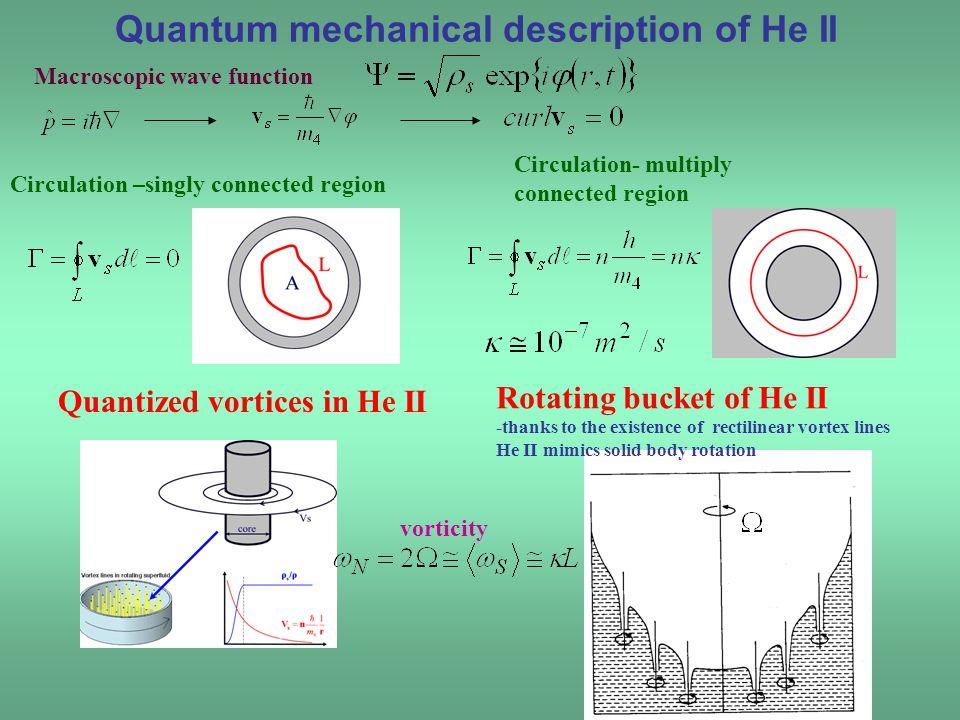 Quantum mechanical description of He II
