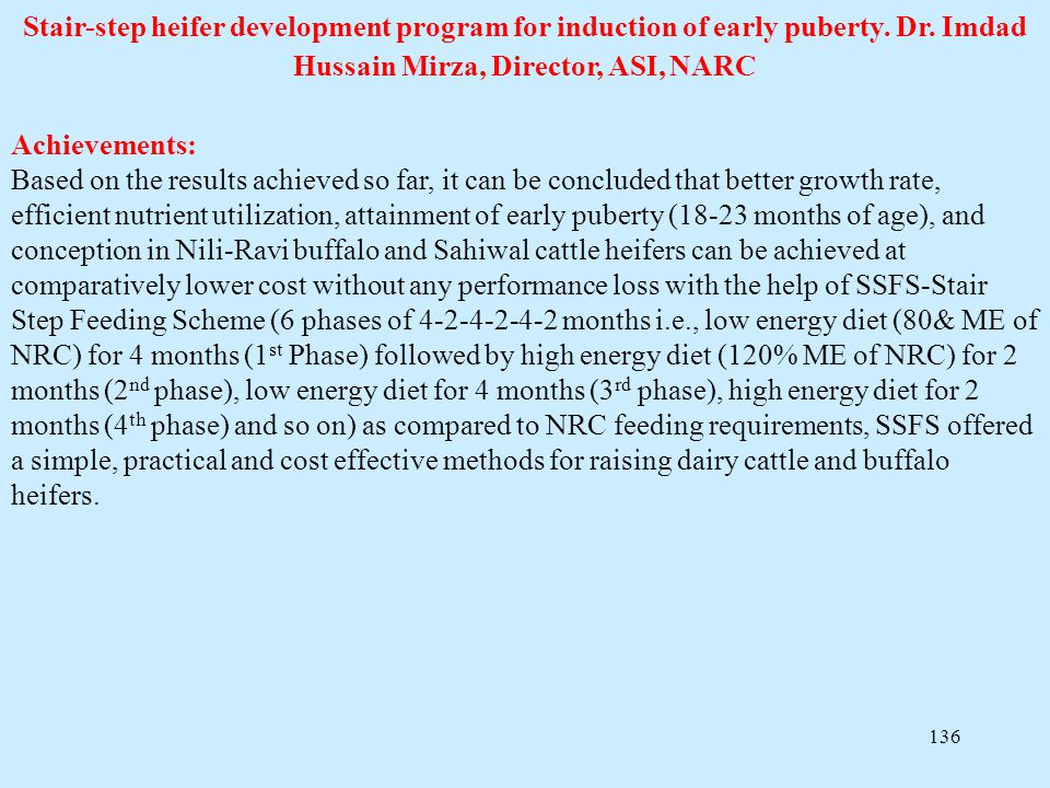 Stair-step heifer development program for induction of early puberty