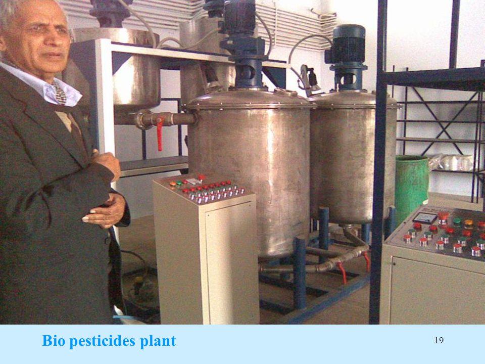 Bio pesticides plant