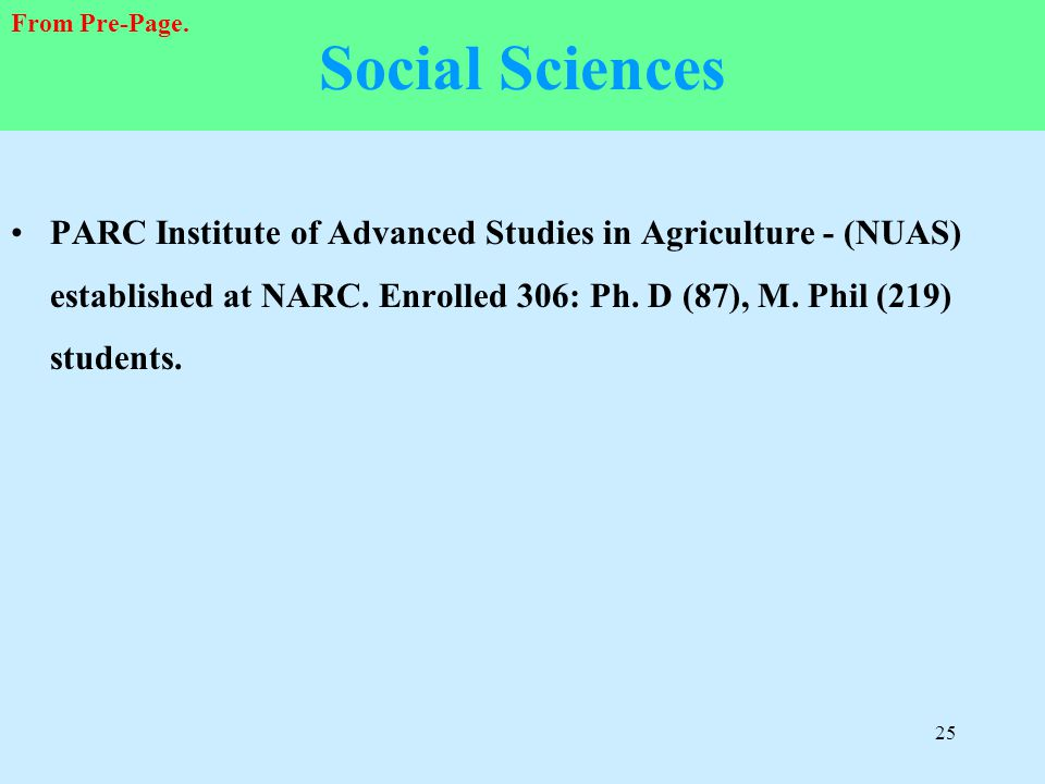 Social Sciences From Pre-Page.