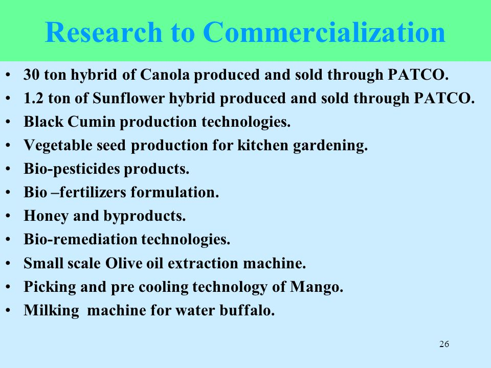 Research to Commercialization