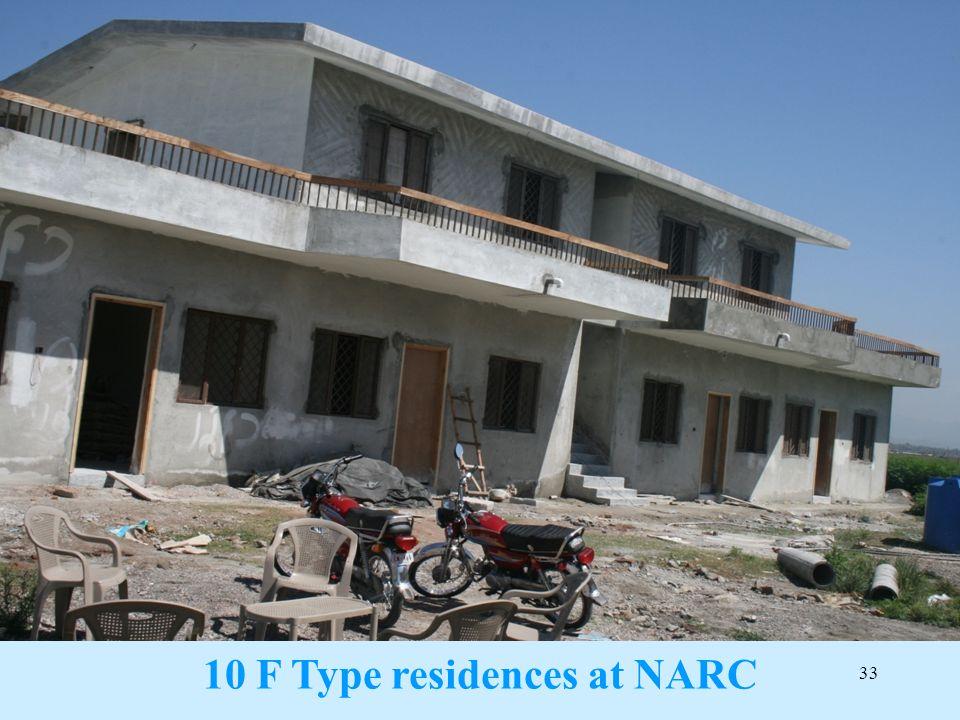 10 F Type residences at NARC
