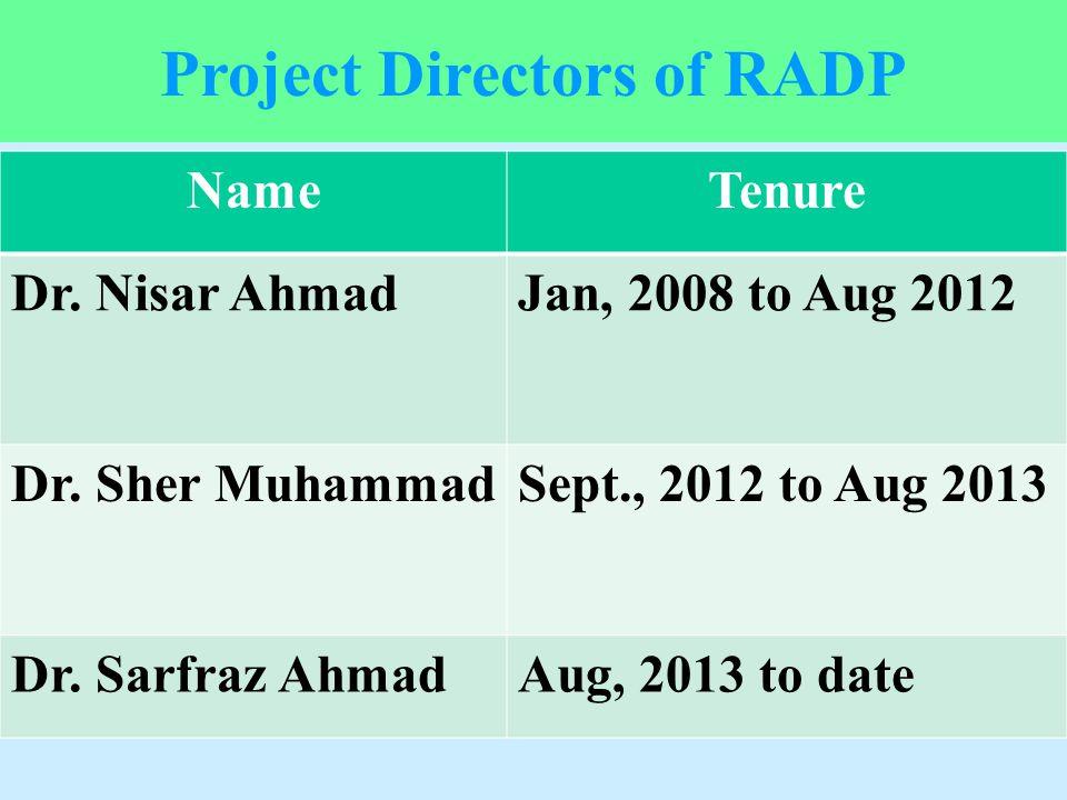 Project Directors of RADP