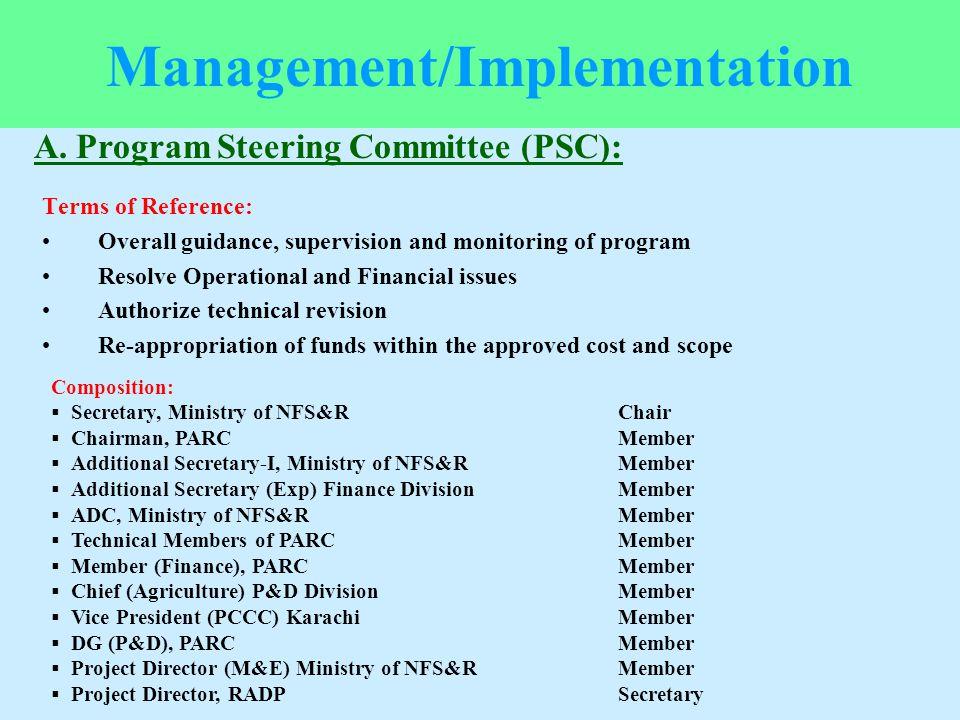 Management/Implementation