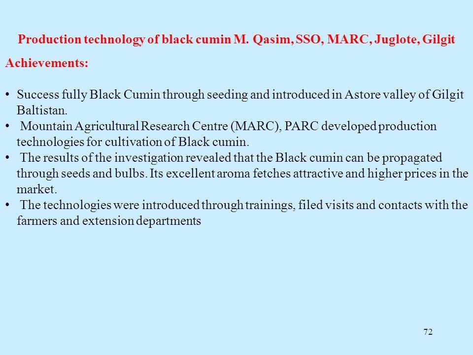 Production technology of black cumin M