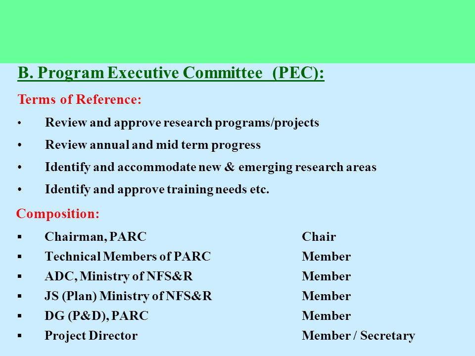 B. Program Executive Committee (PEC):