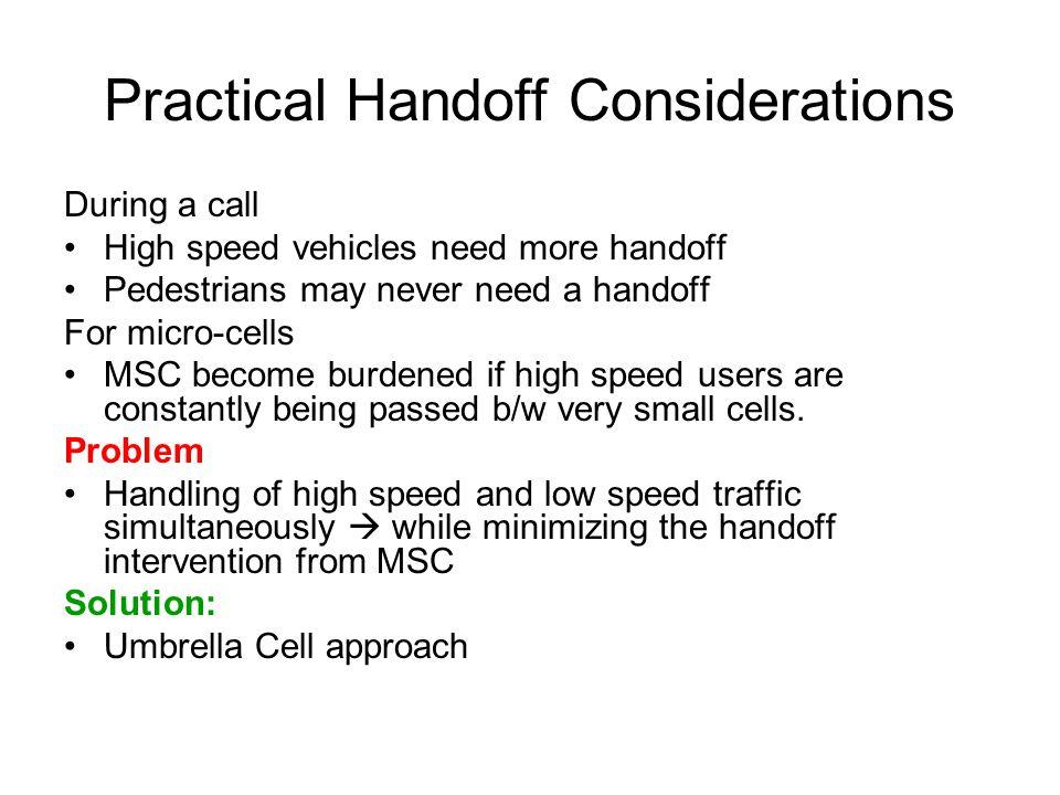 Practical Handoff Considerations