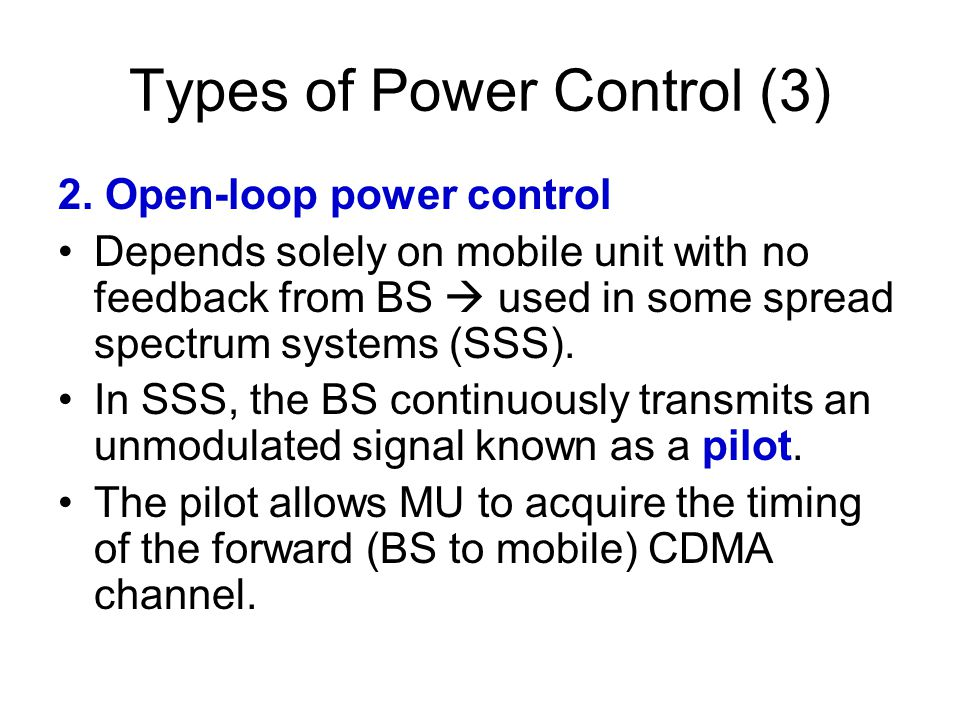 Types of Power Control (3)