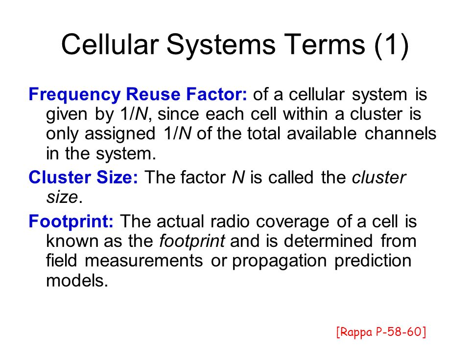 Cellular Systems Terms (1)