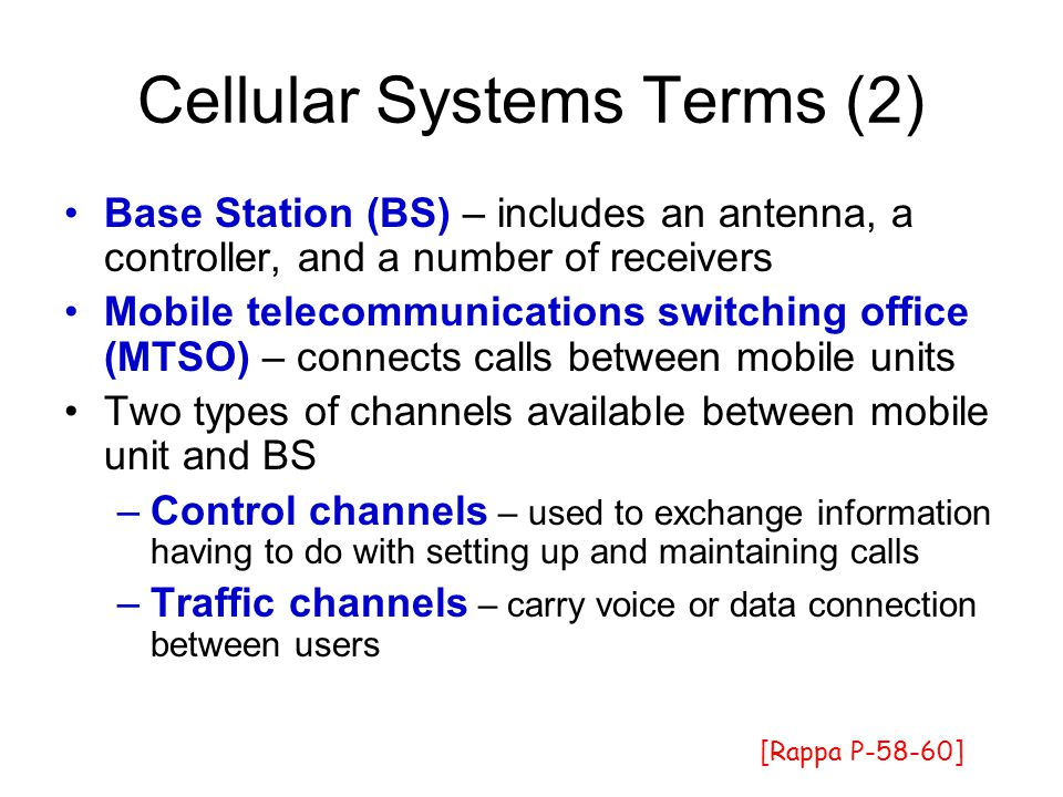 Cellular Systems Terms (2)