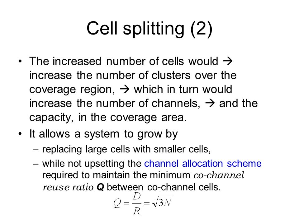 Cell splitting (2)