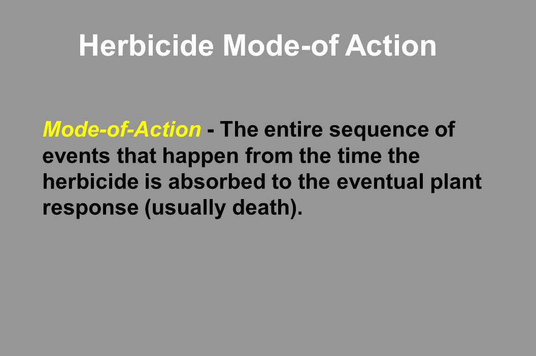 Herbicide Mode-of Action