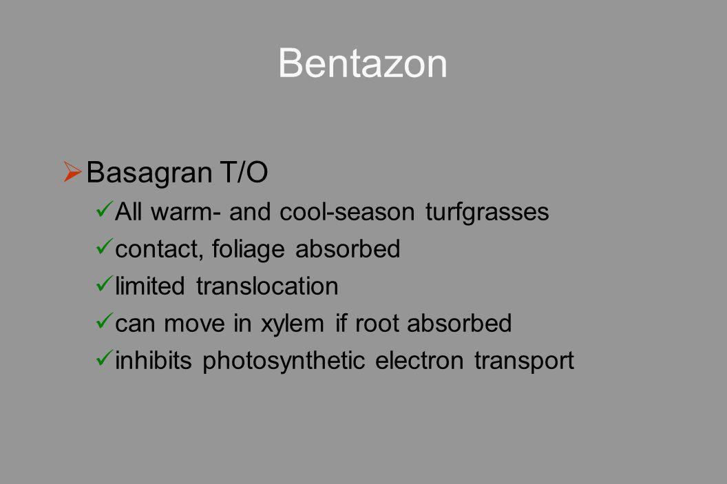 Bentazon Basagran T/O All warm- and cool-season turfgrasses