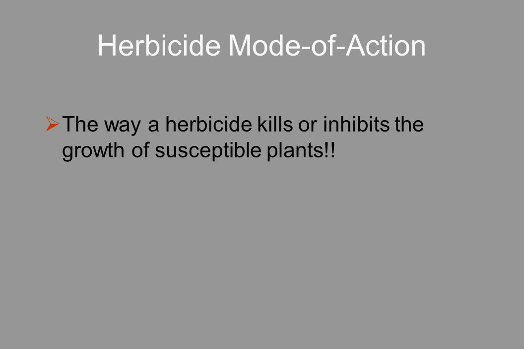 Herbicide Mode-of-Action