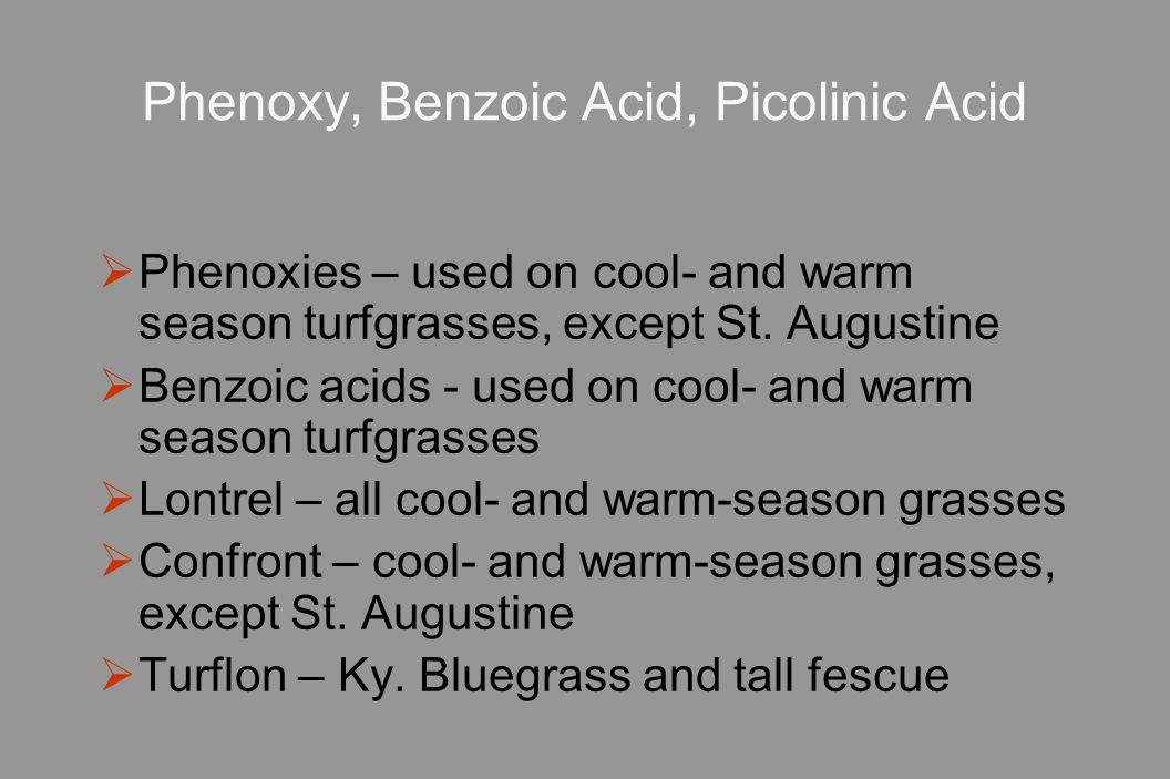 Phenoxy, Benzoic Acid, Picolinic Acid