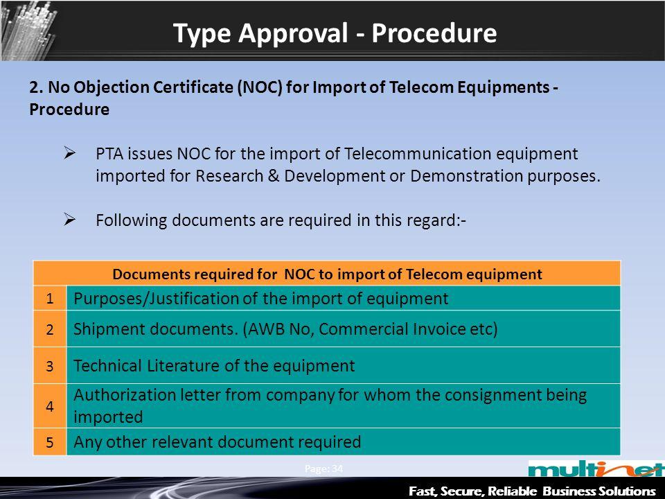 Type Approval - Procedure