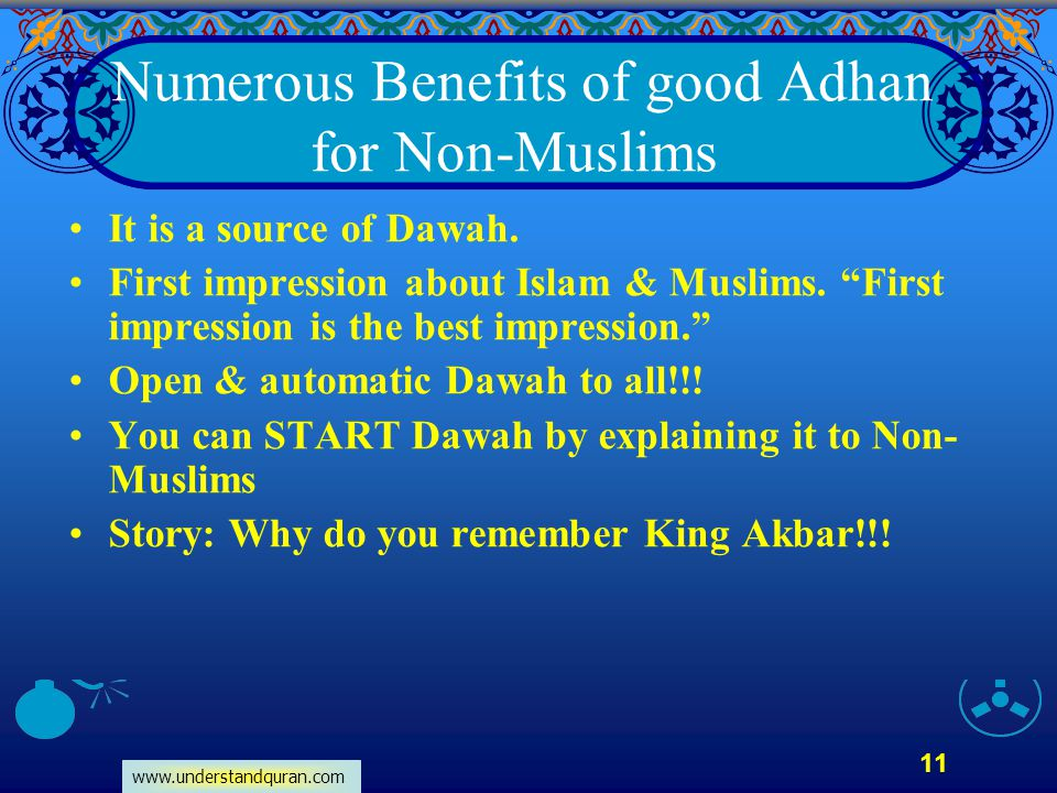 Numerous Benefits of good Adhan for Non-Muslims