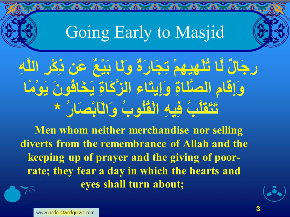 Going Early to Masjid