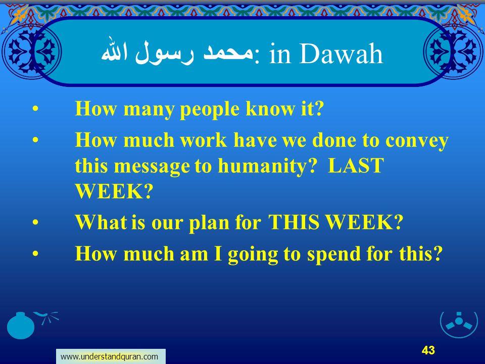 محمد رسول الله: in Dawah